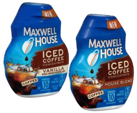 fvs390390  coffee, original roast decaf, 1.1 oz pack, 42 / carton. Maxwell House Iced Coffee Concentrate a $2.58 — Walmart