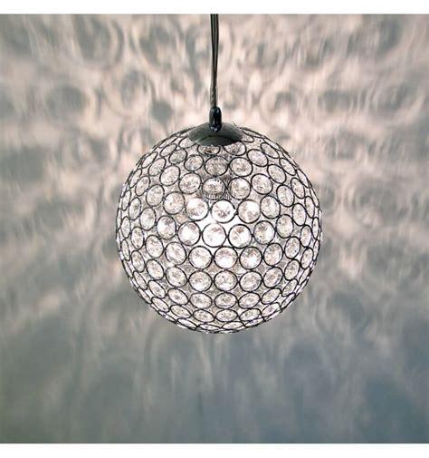 hanglamp chroom kristal bol callopa