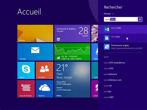 windows 8 1 bureau windows 8 1 lancer une application de bureau médiaforma