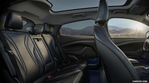 ford mustang mach  electric suv interior rear