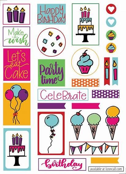 Stickers Birthday Planner Sticker Call Cut Machine