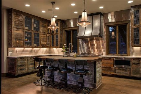 rustic kitchen designs photo gallery lake tahoe getaway features contemporary barn aesthetic 7840