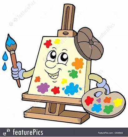 Canvas Cartoon Artist Illustration Paint Painting Tools