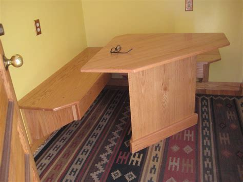 Nice Small Corner Breakfast Nook Set With Wallmount Bench