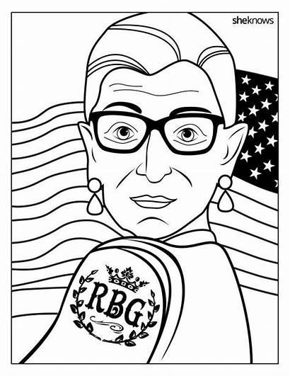 Coloring Ruth Bader Ginsburg Rbg Pages History
