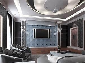 Small cinema interior design 3d