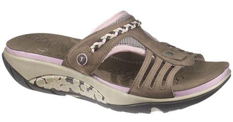 Scotty Slide Hush Puppies lyst hush puppies rollick slide sandals in brown