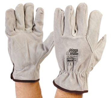 riggamate cowsplit leather glove large pack   neca