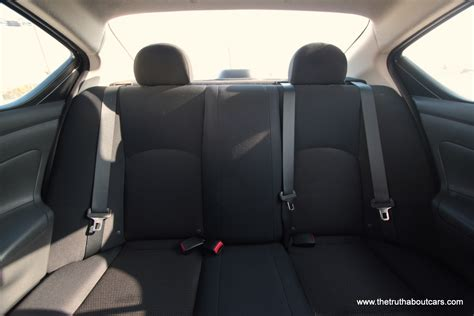 nissan versa interior rear leg room  picture