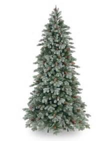 8ft frosted colorado spruce slim feel real artificial tree garden world