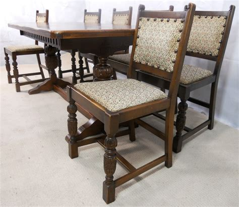 sold antique jacobean style oak beech refectory dining