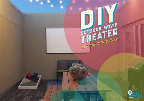 room challenge week  diy outdoor  theater