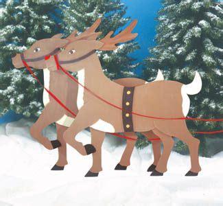 reindeer woodcrafting pattern christmas yard art