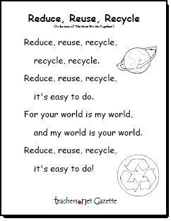quot reduce reuse recycle quot song to the tune of quot the more we 443   9ab24b0f65a1ca642bc18929aa7c23f1