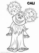 Coloring Smallfoot Pages Printable Yeti Cali Drawing Cute Print Yet Smiling Hand Fun Adults sketch template
