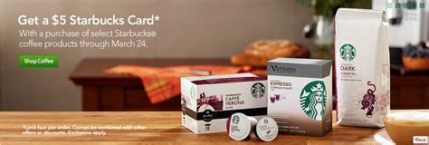 Free $5 Starbucks Card With Purchase Of Select Products
