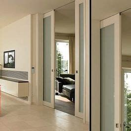 double pocket door concealed ceiling track  modern