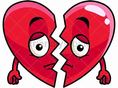 Broken Heart Cartoon Emoji Clipart Friendlystock Half