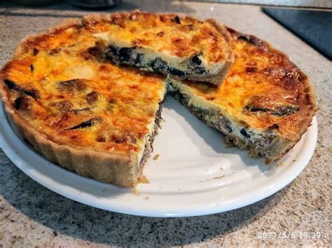 Quiche With Eggplant-Quiche me Patëllxhanë dhe Salçiçe | Family Cooking Recipes