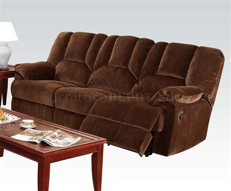 brown fabric recliner sofa 50220 obert reclining sofa in brown fabric by acme w options