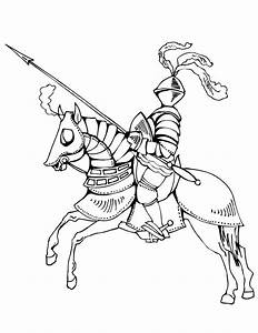 knights on horses coloring pages