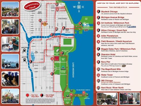 Chicago Boat Tour Map by Hop On Hop Chicago Map Hop On Hop Chicago Tour