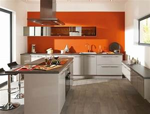 cuisine orange la couleur tonifiante et vive With cuisine orange et gris