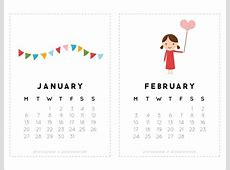 14 Cute Calendar Templates to Download for Free Sample