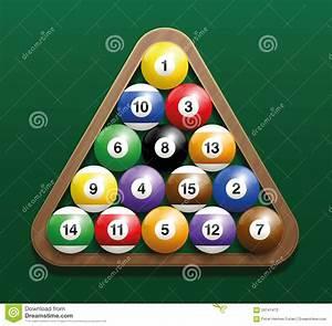 Pool Position : pool billiard balls rack starting position stock vector ~ A.2002-acura-tl-radio.info Haus und Dekorationen
