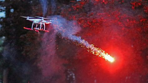 drone quadcopter fires roman candle fireworks youtube