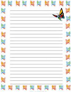 butterflies free printable stationery for regular lined butterfly theme free printable