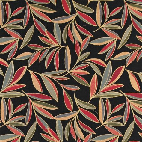 Blue And Orange Upholstery Fabric by Blue And Orange Foliage Leaves Contemporary