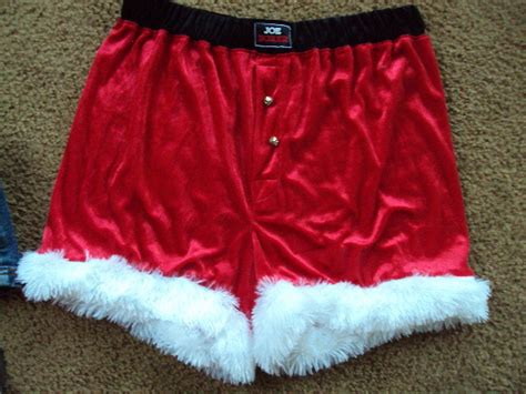 Joe Boxer~santa Clause Boxers~ Shorts~ Sz Large Mens