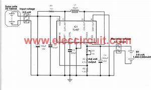 make solar aa battery charger circuit by tl497 eleccircuit With transformer inverter charger changeover circuit electronic circuit
