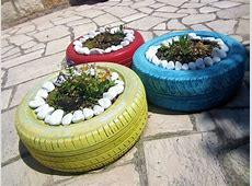 Garden Decor Own Making – Using Old Tires Again! – Fresh