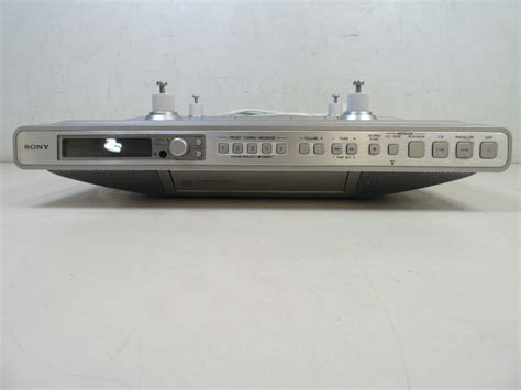 sony under cabinet kitchen cd clock radio sony kitchen clock radio under cabinet am fm radio cd