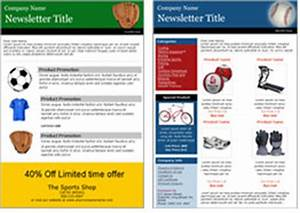 sports industry email marketing With team newsletter template