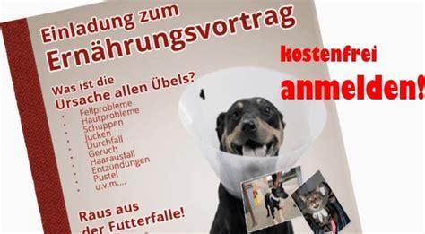 vortrag ueber gesunde ernaehrung von hunden und katzen