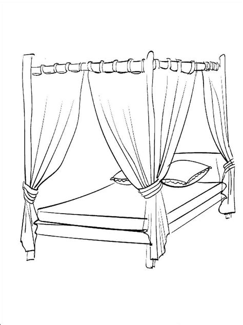bed coloring pages    print
