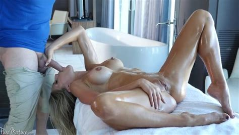 Making This Natural Busty Milf Wife Moan Out From Hard Sex