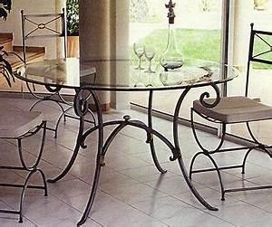 Table Fer Forgé Ronde : table lido ronde patines anciennes ~ Teatrodelosmanantiales.com Idées de Décoration