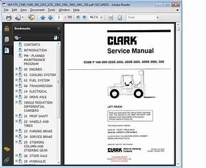 Clark Service Manual C500 Y 180
