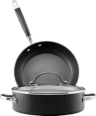 amazoncom anolon advanced hard anodized nonstick gift  purchase  piece cookware set