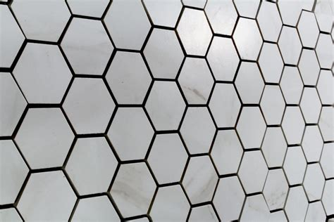 carrara marble white matt hexagon mosaic 310x324 tiles