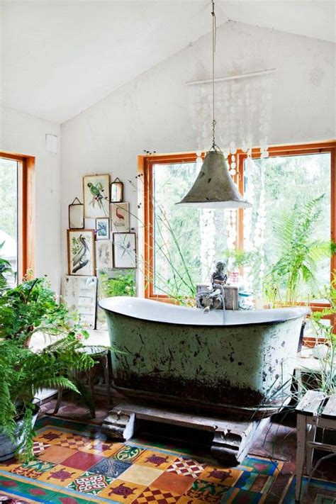 bright bohemian bathroom design ideas digsdigs