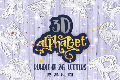 Works perfectly with your cricut or silhouette to make a fun craft project. 3D Alphabet Mandala layered bundle svg Papercut SVG ...