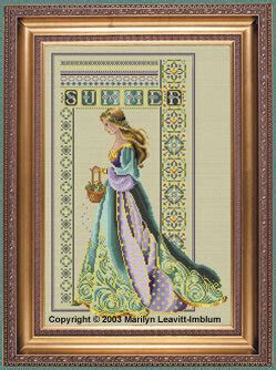 lavender  lace celtic summer cross stitch pattern