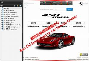 Ferrari 488 458 F12 Ff California 599 F430 Workshop Manual
