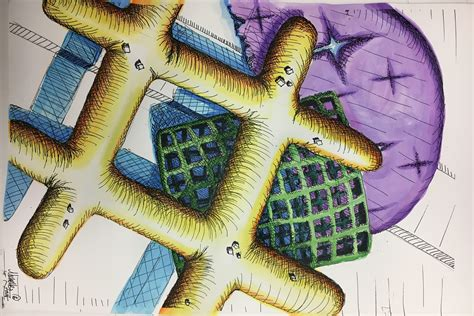 chex mix cross hatching drawing
