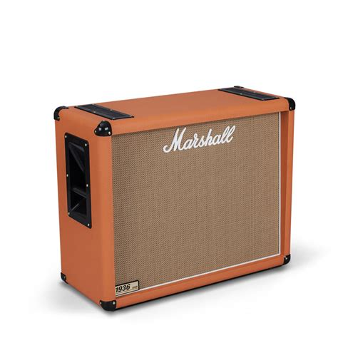 2x12 guitar cabinet marshall 1936 2x12 quot guitar speaker cab orange at